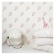 Papier peint granite traditional blanc papermint design enfant - Papier peint rose pale ...