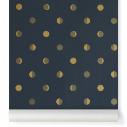 Bartsch Crescent moons wallpaper - Ink Midnight blue-listing