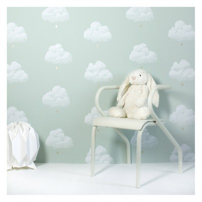 Bartsch Cotton Clouds Wallpaper - Sea Green-listing