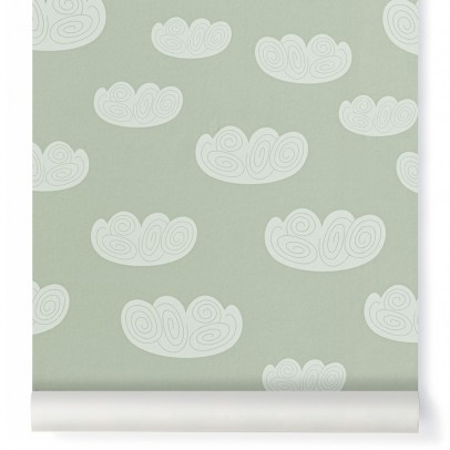 Ferm Living Kids Papier peint Cloud - Vert menthe-product
