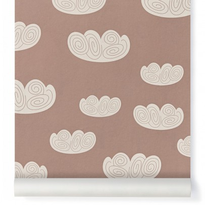 Ferm Living Kids Cloud Wallpaper - pink-listing