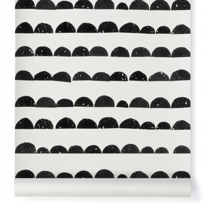 Ferm Living Kids Half-moon Wallpaper - Black-listing