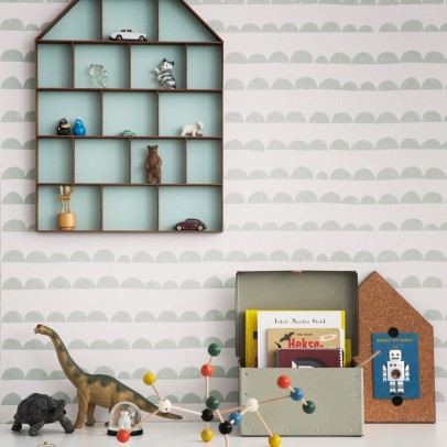 Ferm Living Kids Half-moon Wallpaper - mint green-listing