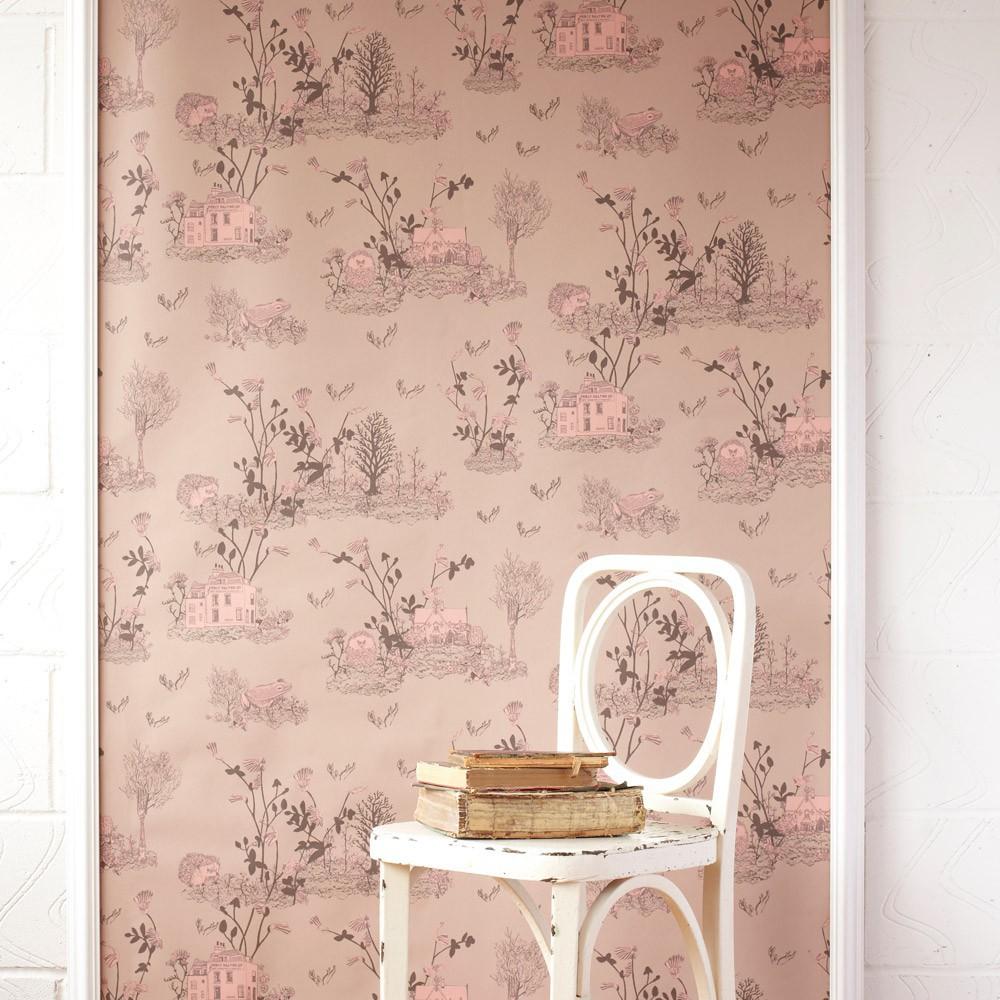 Salle De Bain Rose Poudre ~ papier peint woodland rose poudre sian zeng design enfant