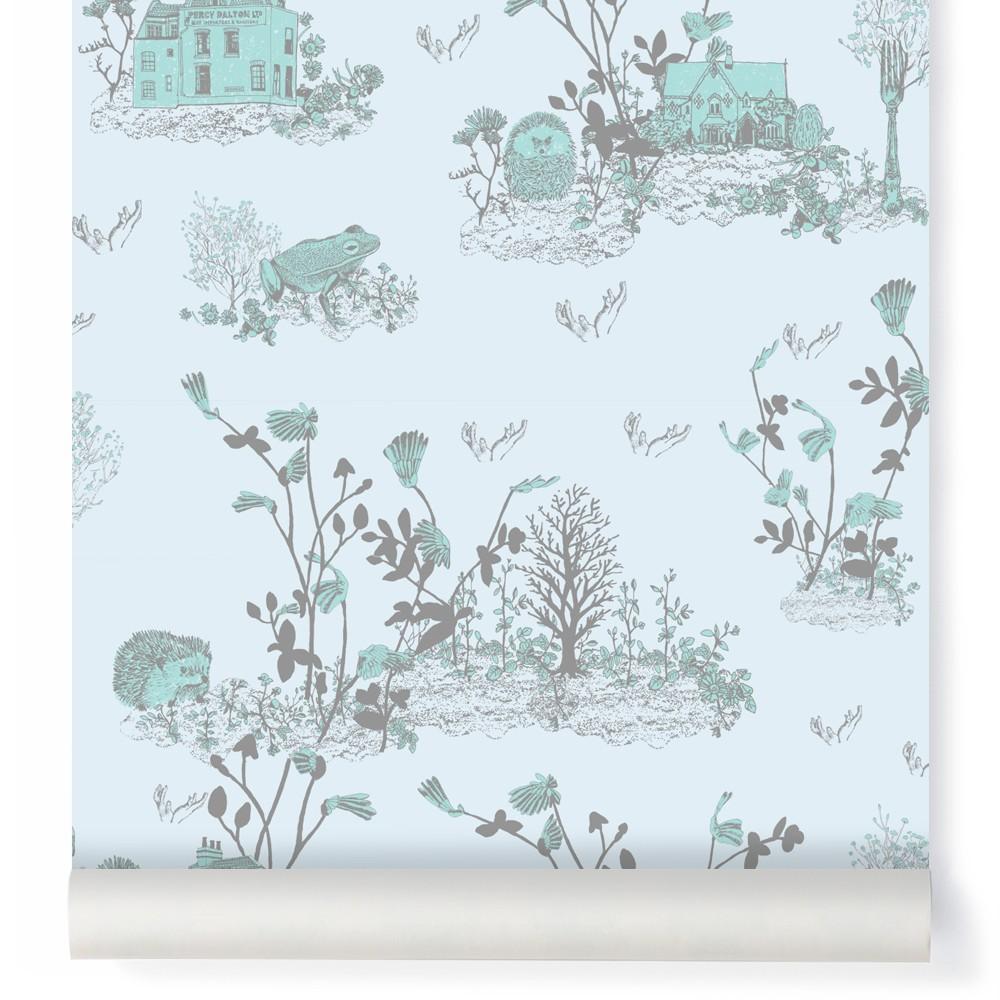 papier peint woodland bleu gris sian zeng design enfant. Black Bedroom Furniture Sets. Home Design Ideas