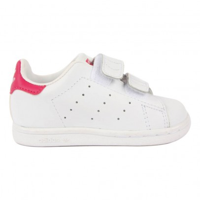 Adidas Stan Smith Pink Velcro Trainers-listing
