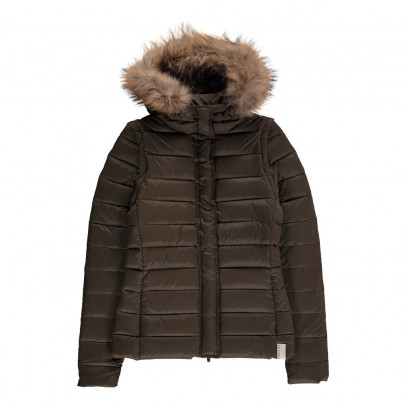 Gertrude + Gaston Olga Fur Removable Hood Down Jacket-listing