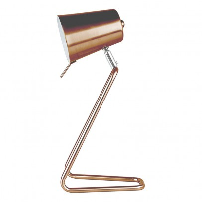 Present Time Z Copper Table Lamp-listing