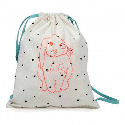 MIMI'lou Pink Rabbit Drawstring Bag-listing