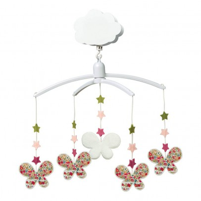 Trousselier Red Flowers Musical Stars Mobile-listing