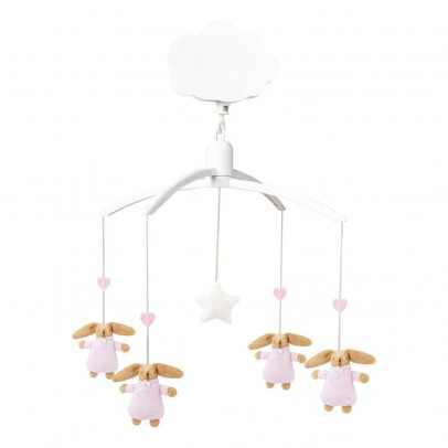 Trousselier Pink Bunny Musical Mobile Baby Nest-listing