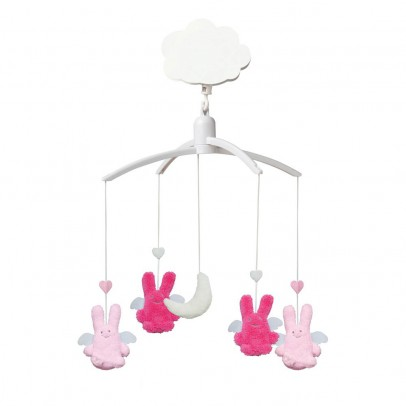 Trousselier Mobile musical Ange lapin Fuschia et rose-product