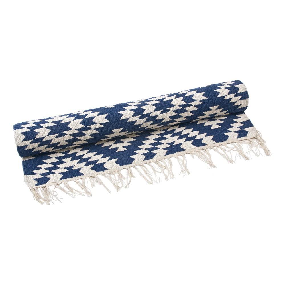 Alfombra de algod n apache azul marino liv interior design - Alfombras de algodon ...