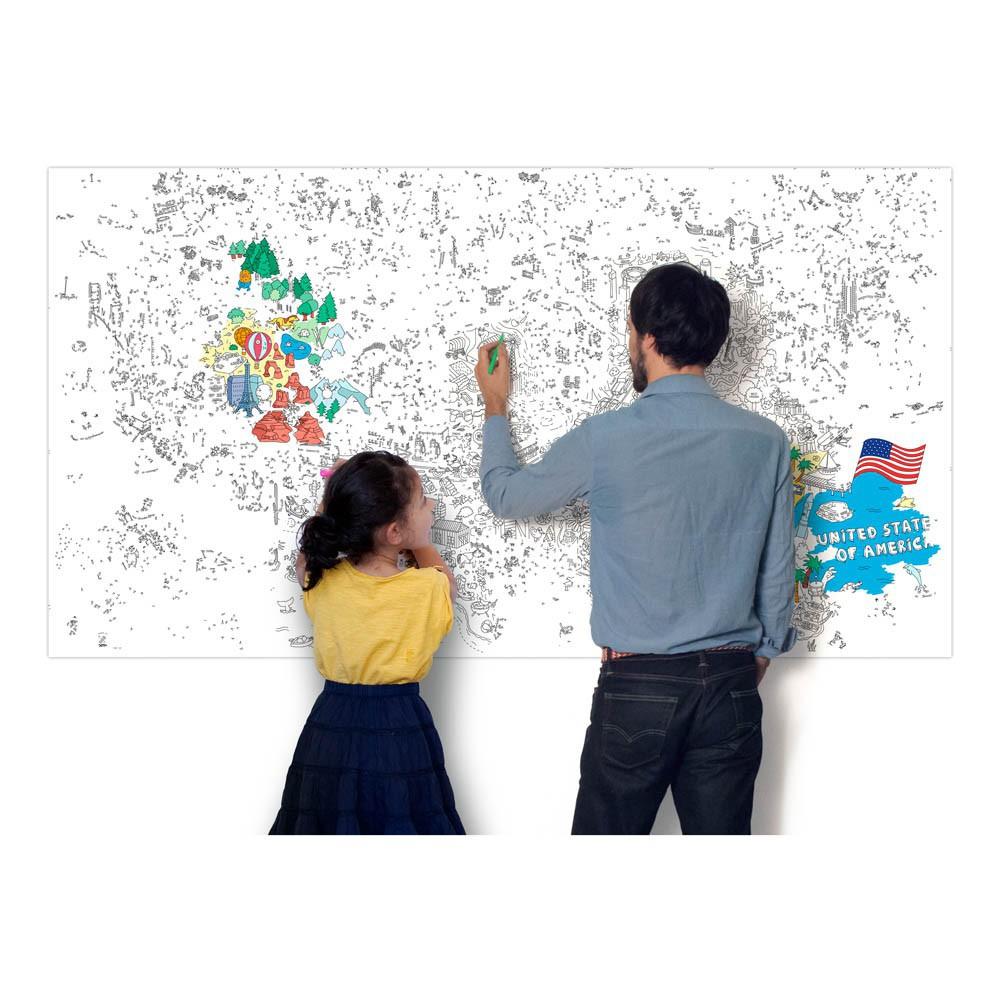 Imagen gigante para colorear USA Omy Juguetes y Hobby Infantil