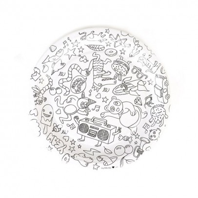 Omy Omy Colouring Paper Plates - set of 8-listing