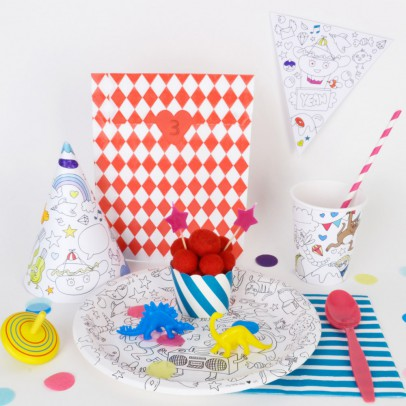 Omy Omy Colouring Paper Cups -  set of 8-product