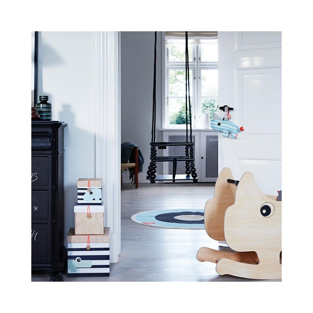 Balan oire d 39 int rieur noir done by deer jouet et loisir for Balancoire bebe interieur