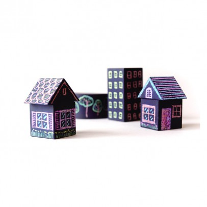 Kitpas Tsumiki City Block Stencil With Dustless Chalk-listing
