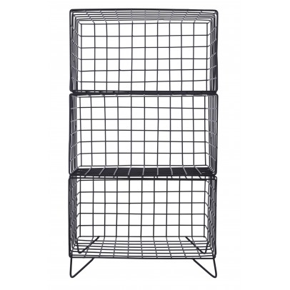 House Doctor Metal Bookshelf with Storage Bin-listing