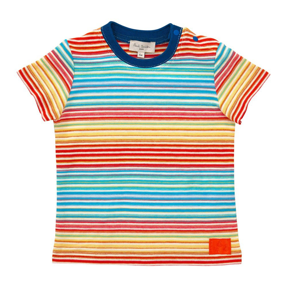 gestreiftes t shirt bunt paul smith junior mode teenager