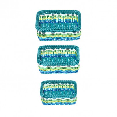 Kitsch Kitchen Panier rectangulaire - Lot de 3-listing