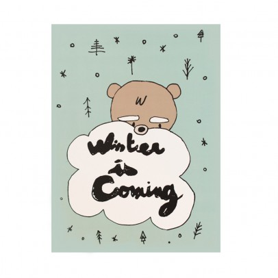 Mathilde Cabanas Póster Winter is coming 29,7x42 cm	-listing