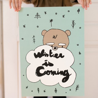 Mathilde Cabanas Affiche Winter is coming 29,7x42 cm-listing