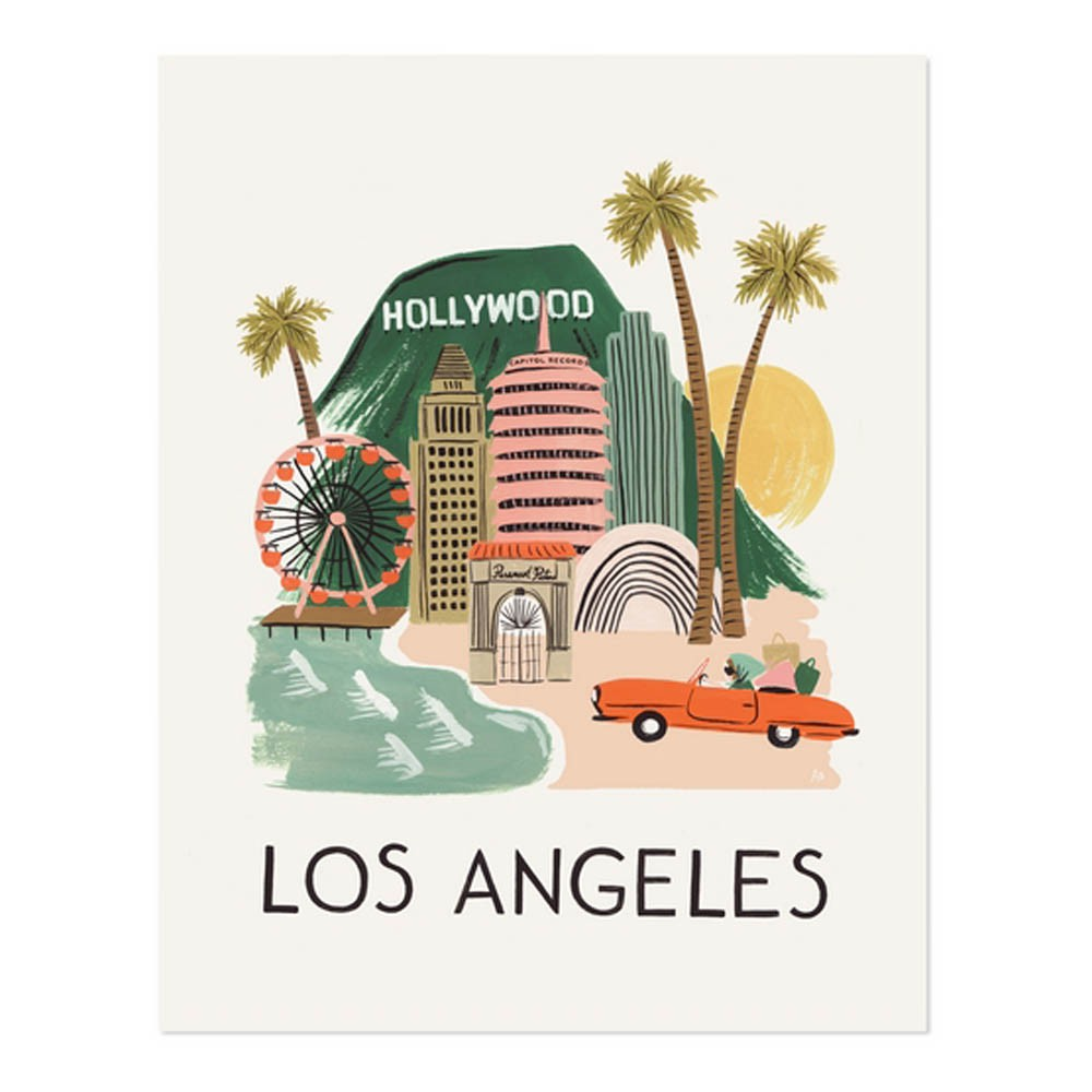 Poster design los angeles - Rifle Paper Los Angeles Poster 28x35 Cm Product