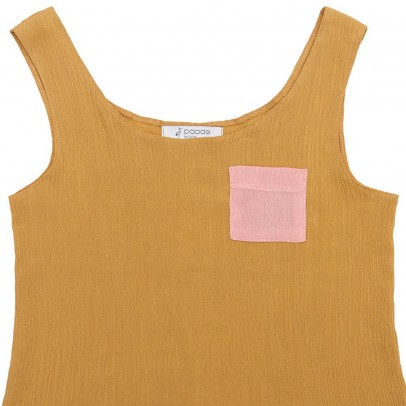 Paade Mode Golden Tank Top with Pocket-listing