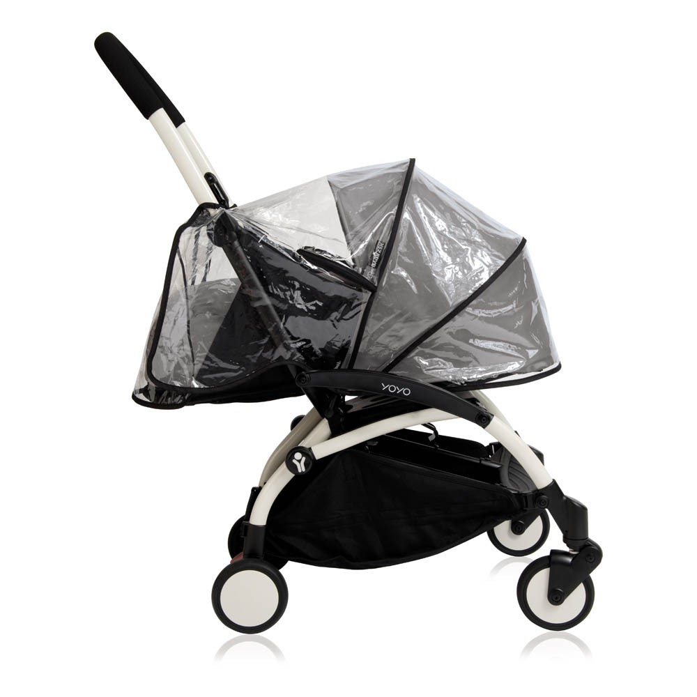 Kinderwagen New Yoyo + 0-6 Monate -Gestell-Weiss Rosa Babyzen