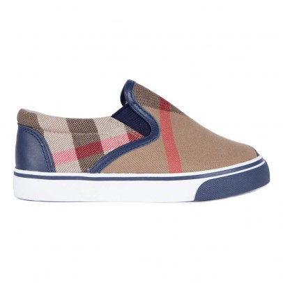 Burberry Linus Tartan Slip-On Shoes-listing