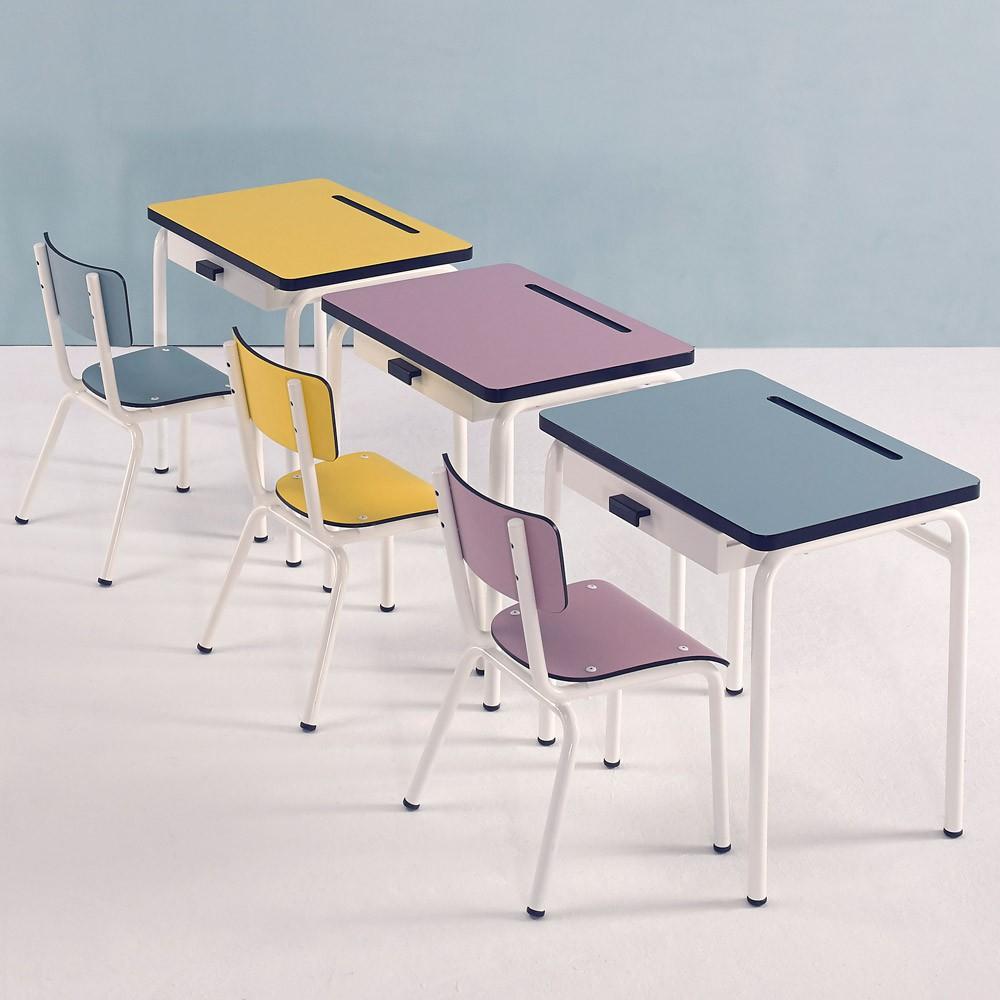 bureau enfant r gine bleu jade les gambettes design enfant. Black Bedroom Furniture Sets. Home Design Ideas