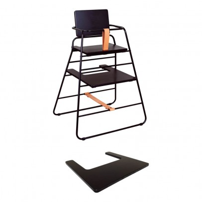 Budtzbendix High Chair Towerchair - Black and Leather-listing