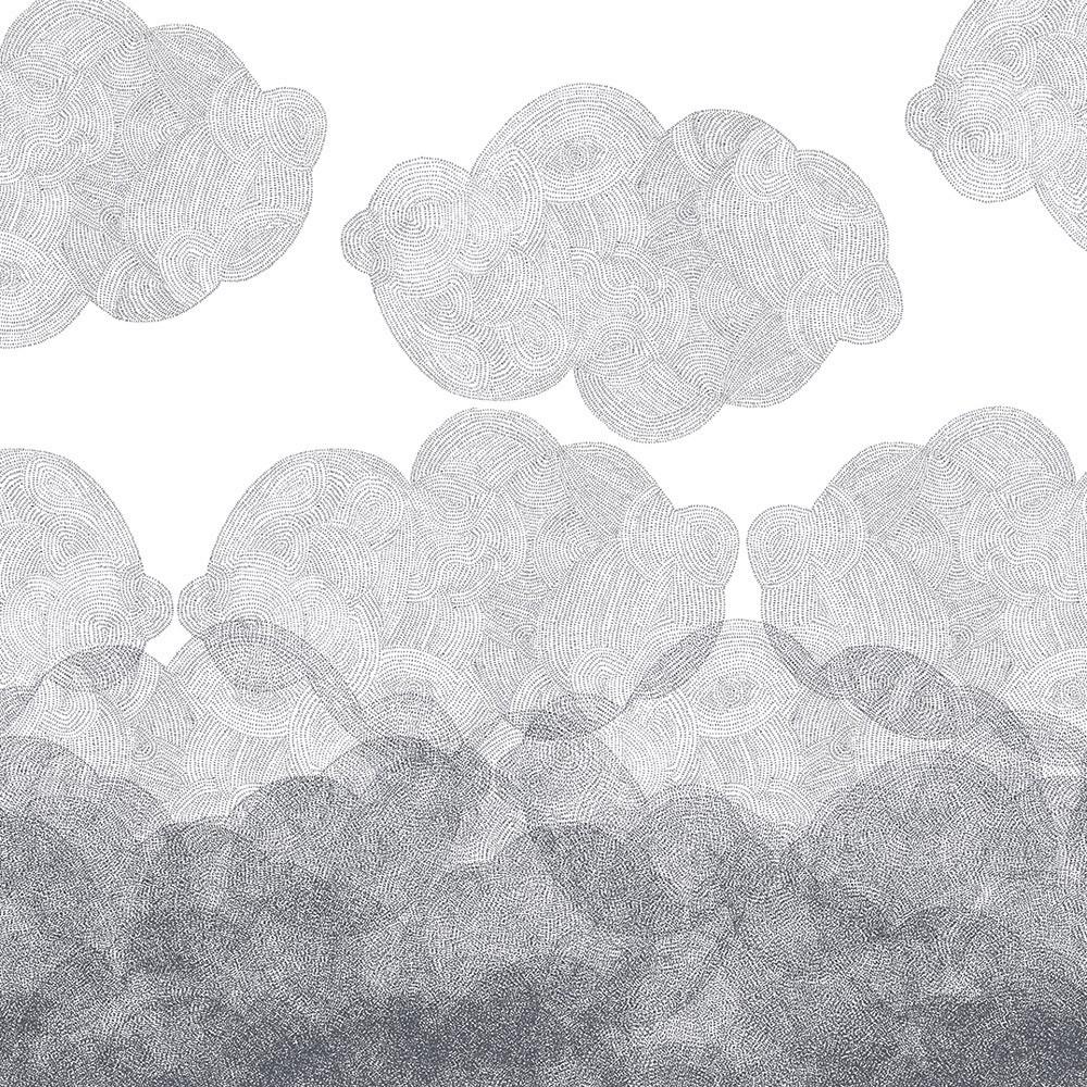 papier peint cloudy 182x280 cm 2 l s multicolore bien fait. Black Bedroom Furniture Sets. Home Design Ideas