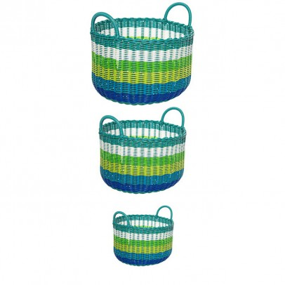 Kitsch Kitchen Round Basket - Set of 3-listing