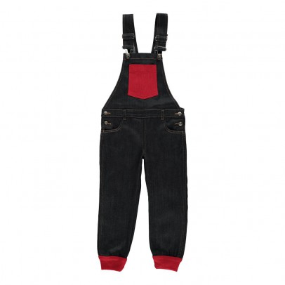 Rykiel enfant Two-Toned Overalls with Pocket-listing