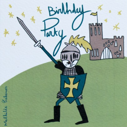 Mathilde Cabanas Knight Birthday Party Invitations - Set of 6-product