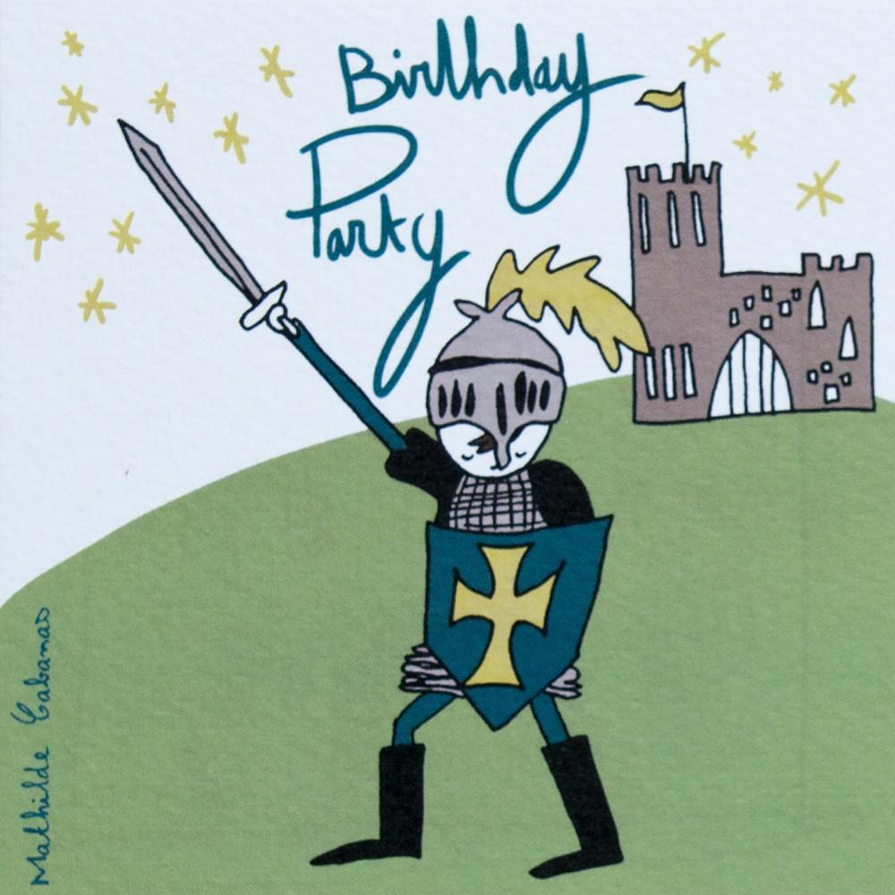 Knight Birthday Party Invitations - Set of 6 Mathilde Cabanas