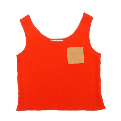 Paade Mode Coral Tank Top with Pocket-listing