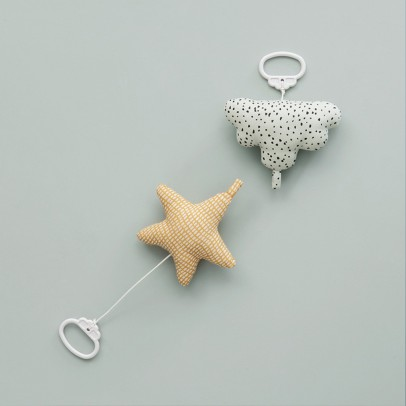 Ferm Living Kids Mobile Musical Cotton Star-listing