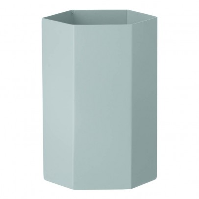 Ferm Living Metal Hexagon Vase H15cm-product