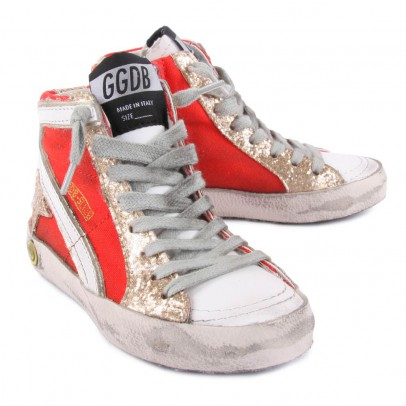Golden Goose Slide Zip-Up High Top Sneakers-listing
