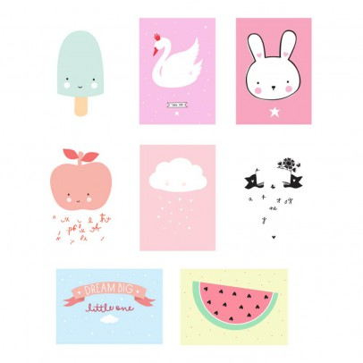 A little lovely company Póster Little Girl Ligthbox - Set de 8-listing