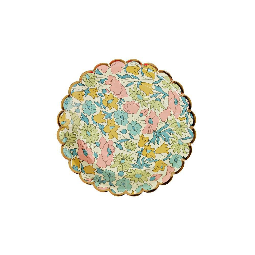 Liberty Poppy & Daisy Paper Plates - Set of 12 Meri Meri Design