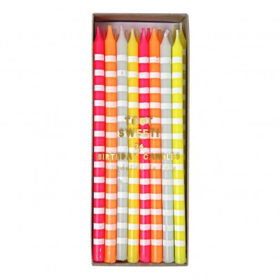 Meri Meri Striped pastel Candles - Set of 24-listing