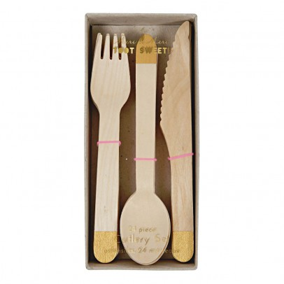 Meri Meri Wooden Silverware - Set of 24-listing