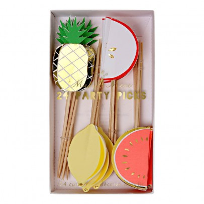 Meri Meri Wooden Fruit - Set of 24 -listing