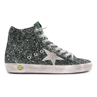 Golden Goose Francy Sequined Zip-Up Sneakers-listing
