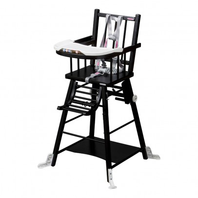 Combelle High Chair - Black Varnish-listing