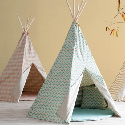 Nobodinoz Arizona Teepee with black and green triangles -listing